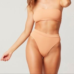 nwot lspace ribbed frenchie bottoms in chestnut